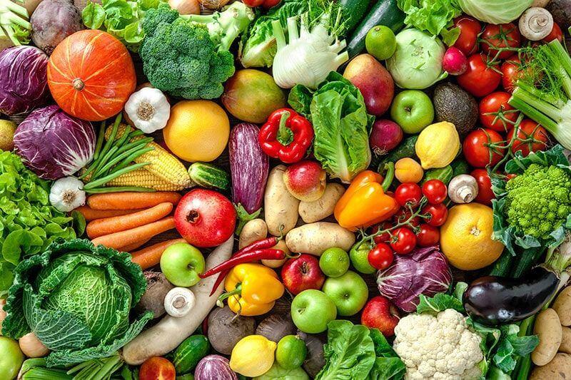 سبزی ها و رنگين كمان سلامتی